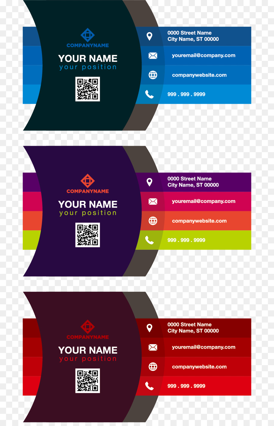 Business card Color Adobe Illustrator - Gradient color business card ...