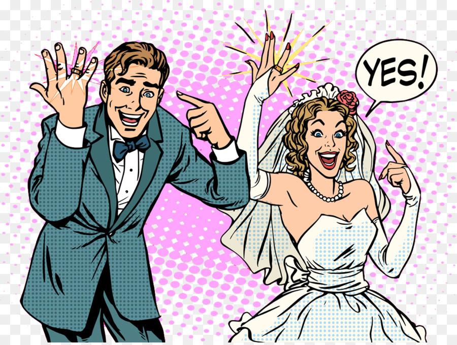 wedding bridegroom pop art hand painted couple png download 1024
