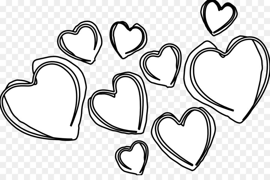 Corazón en blanco y Negro imágenes prediseñadas - Corazones En ...