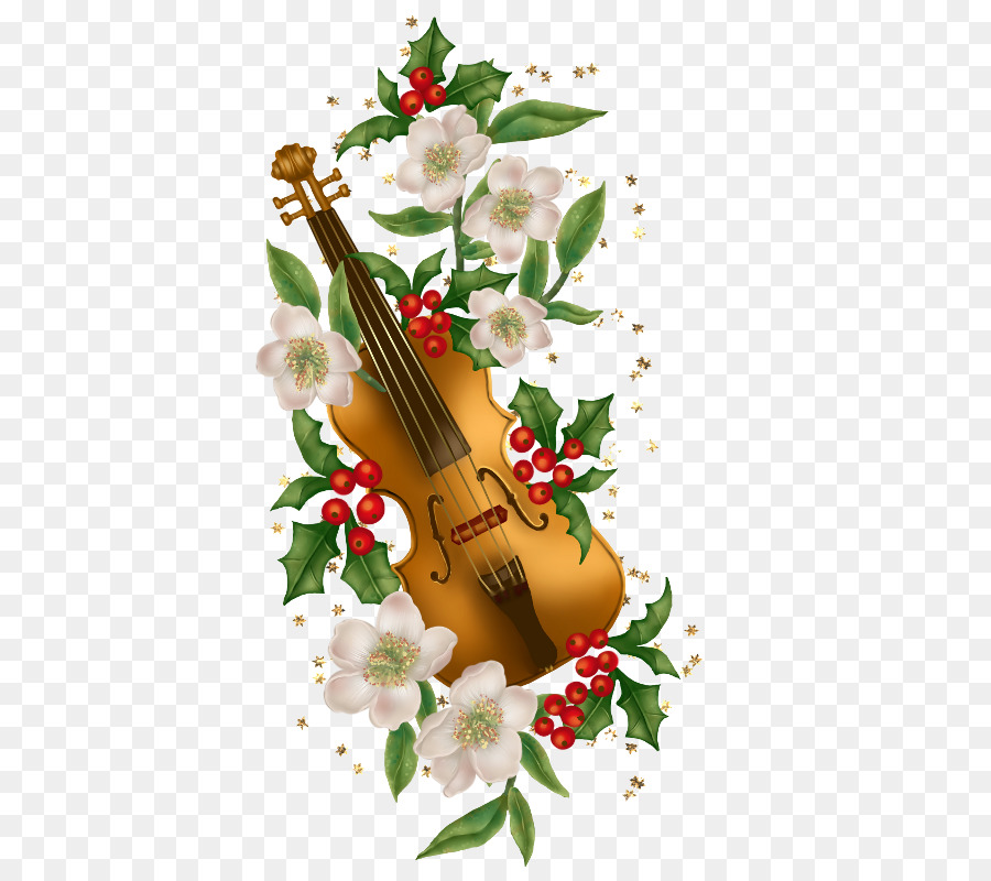 Violin Christmas card Musical instrument - A violin png download ...