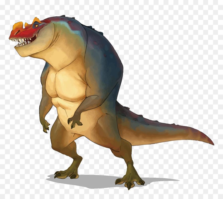 Tyrannosaurus Ceratosaurus Dinosaur Drawing Illustration