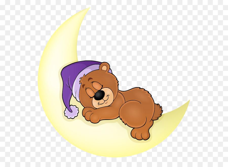 bear sleep illustration bear sleeping on the moon png download