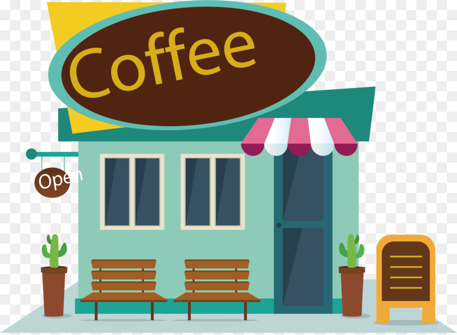 Coffee Cafe Fast food Clip art - Vector map coffee shop ...