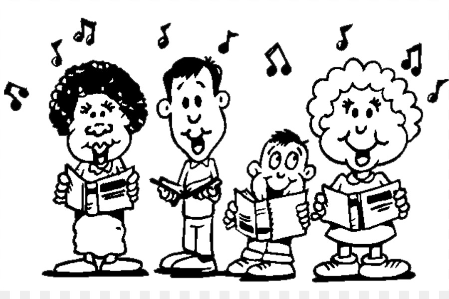 Singing Choir Black And White Song Clip Art