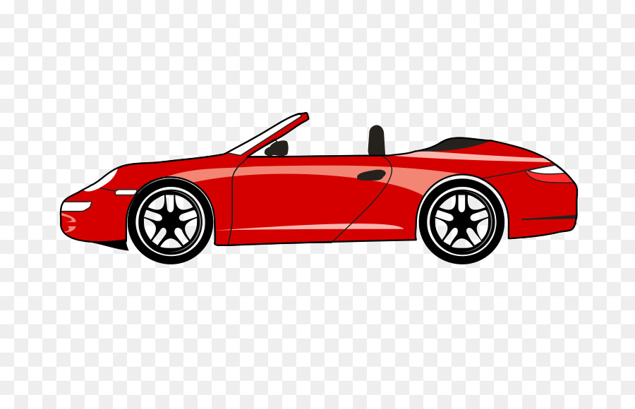 Sports Car Chevrolet Corvette Porsche Ford Mustang   Red Sports Car Cartoon