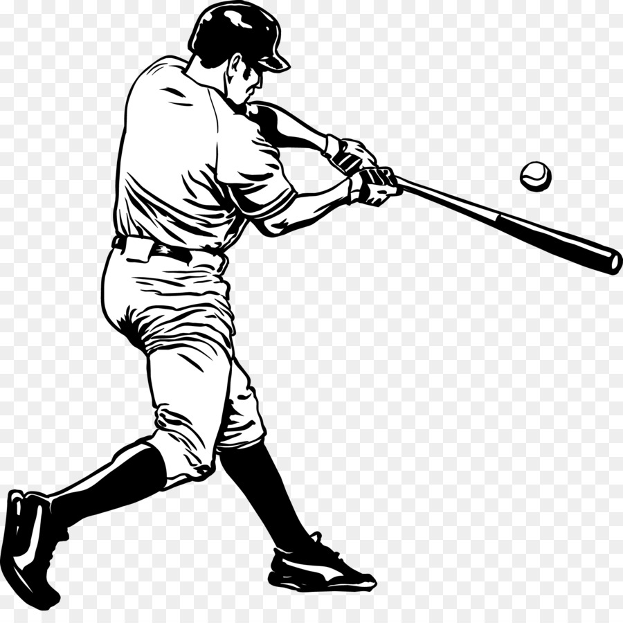 mlb baseball player batting vector stick figure baseball player rh kisspng com Baseball Bat Vector Silhouette baseball player vector image