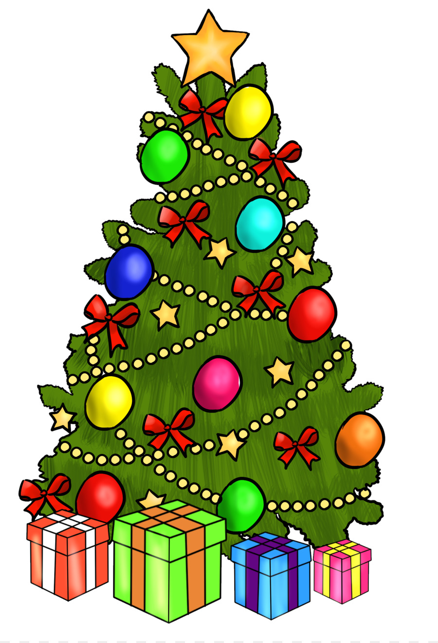 Christmas Tree Gift Clip Art Cute August Cliparts Png Download