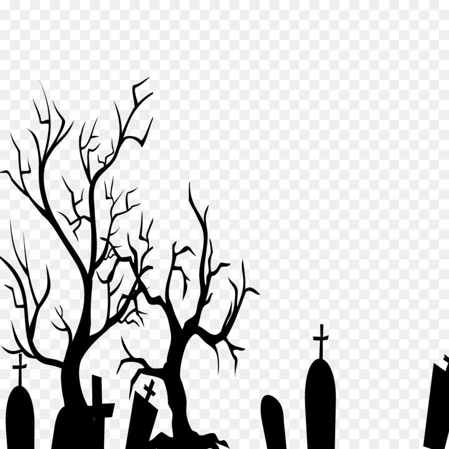 black and white halloween wallpaper - black halloween png download