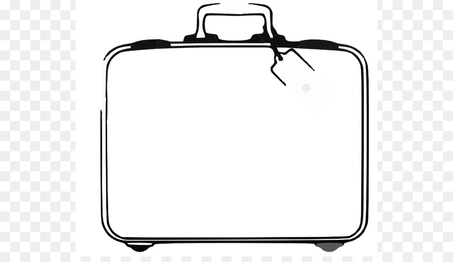 Suitcase Baggage Travel Black And White Clip Art