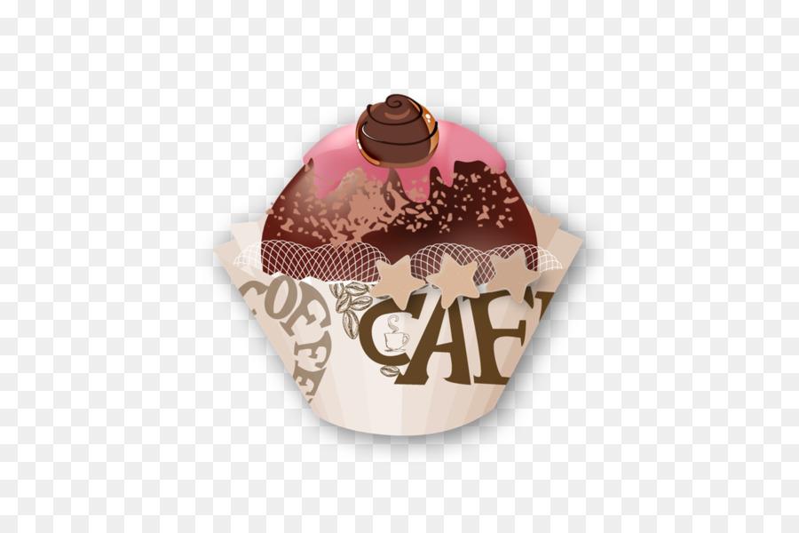 Eis Kaffee Kuchen Schokolade Kuchen Hand Gezeichnet Cartoon Tassen