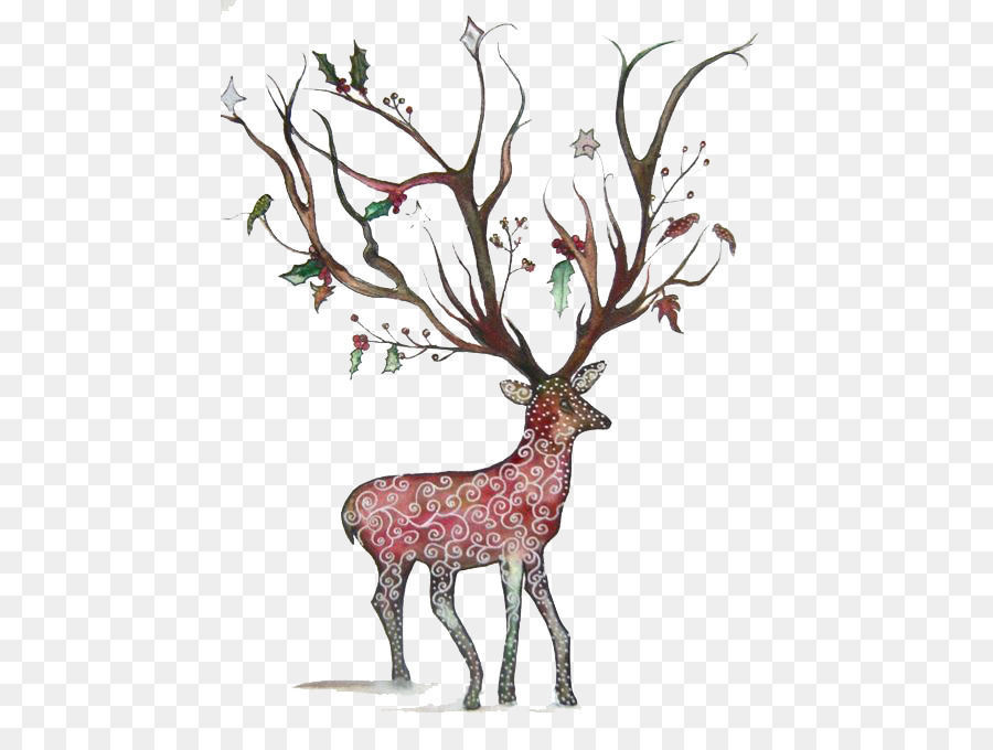Ciervo De Dibujos Animados Ilustración - Los ciervos Formatos De ...