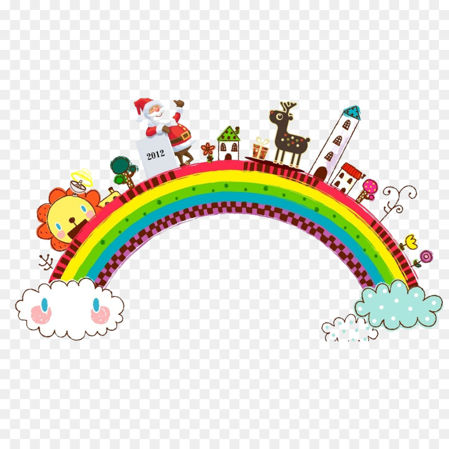 Child Picture frame Cartoon - rainbow png download - 2953*2953 ...