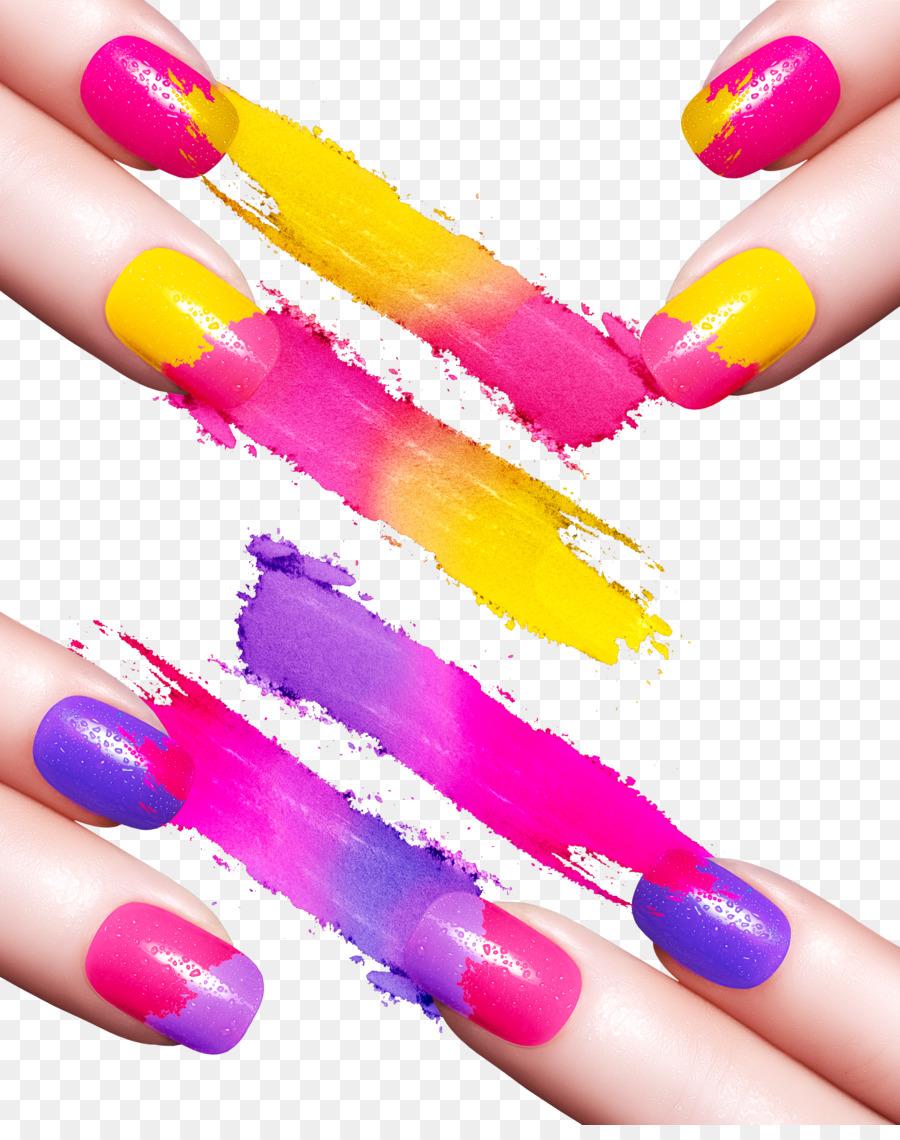 Nail polish Manicure Nail art - Creative Nail color material png ...