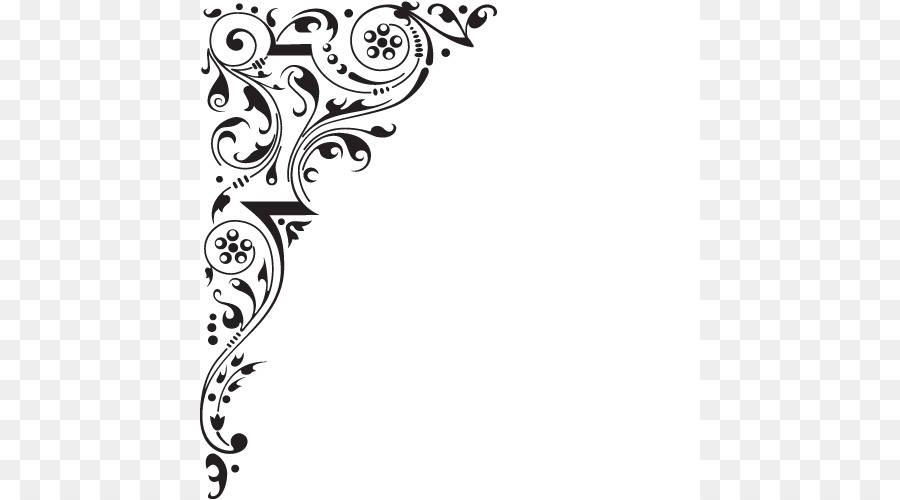 decorative borders picture frame clip art corner designs