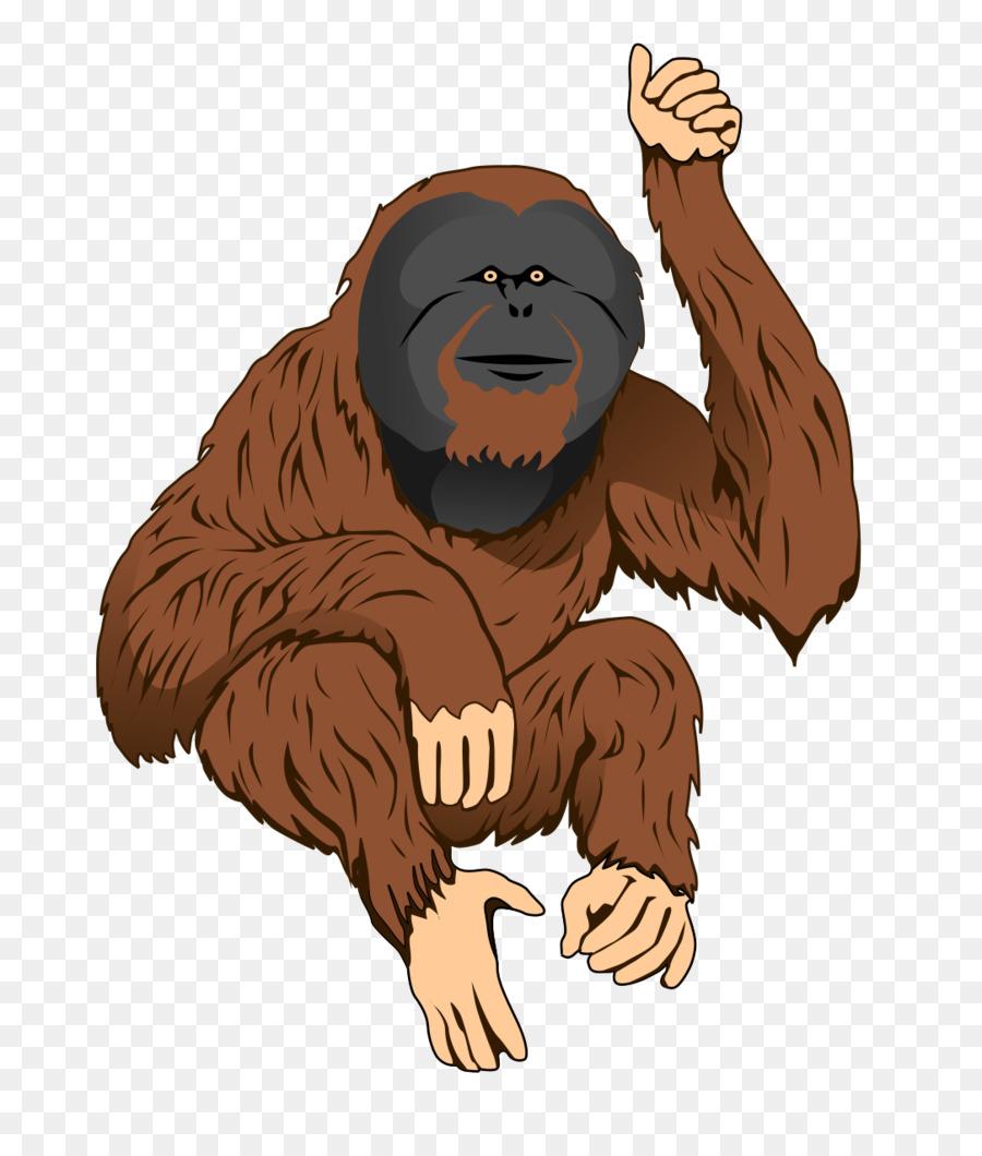 bornean orangutan sumatran orangutan ape clip art cartoon rh kisspng com orangutan clipart black and white cute orangutan clipart