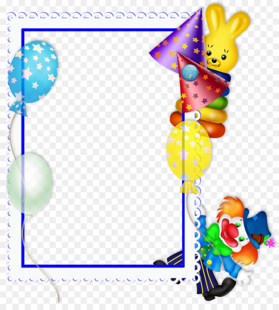 Picture frame Birthday Party Clip art - Party Frame Cliparts png ...