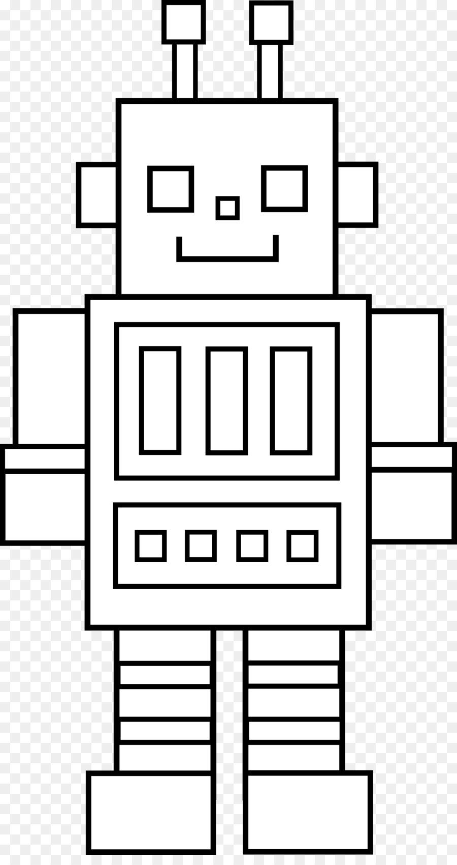 Robotik Kitap Siyah Beyaz Küçük Resim Boyama Robot Fotograflardan