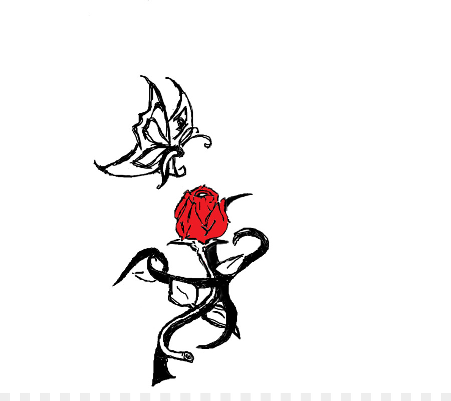 Tattoo Rose Tribe Flower Clip Art Hearts And Flowers Tattoos Png