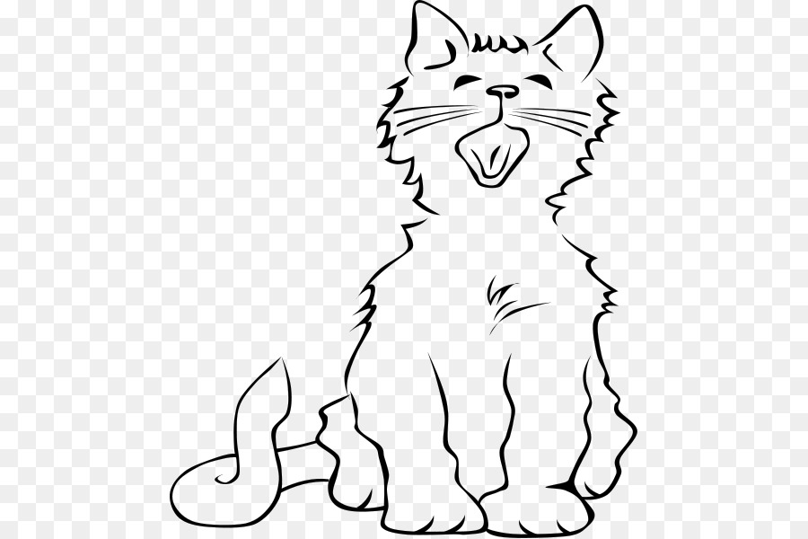 Black Cat Kitten Meow Clip Art Two Cats Cliparts Png Download