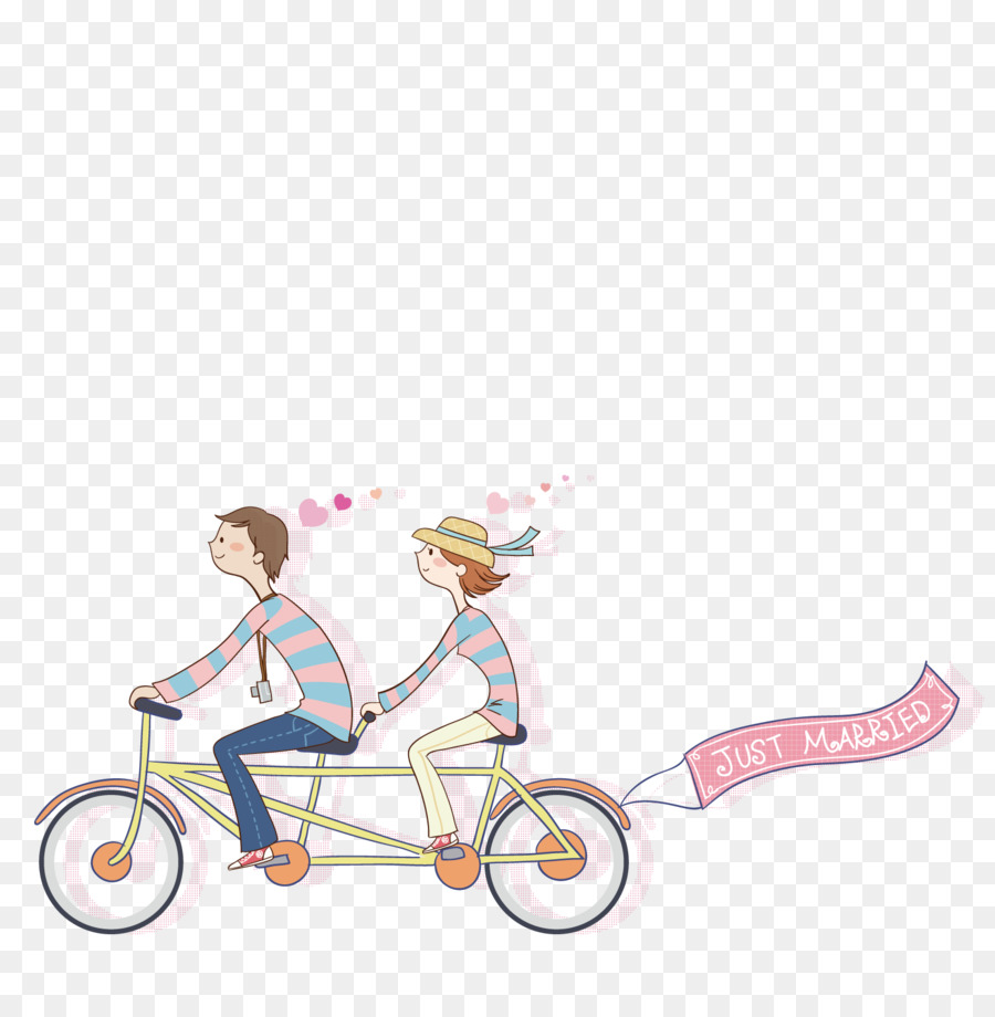 bicycle cycling cartoon a couple riding a bike png download 1500