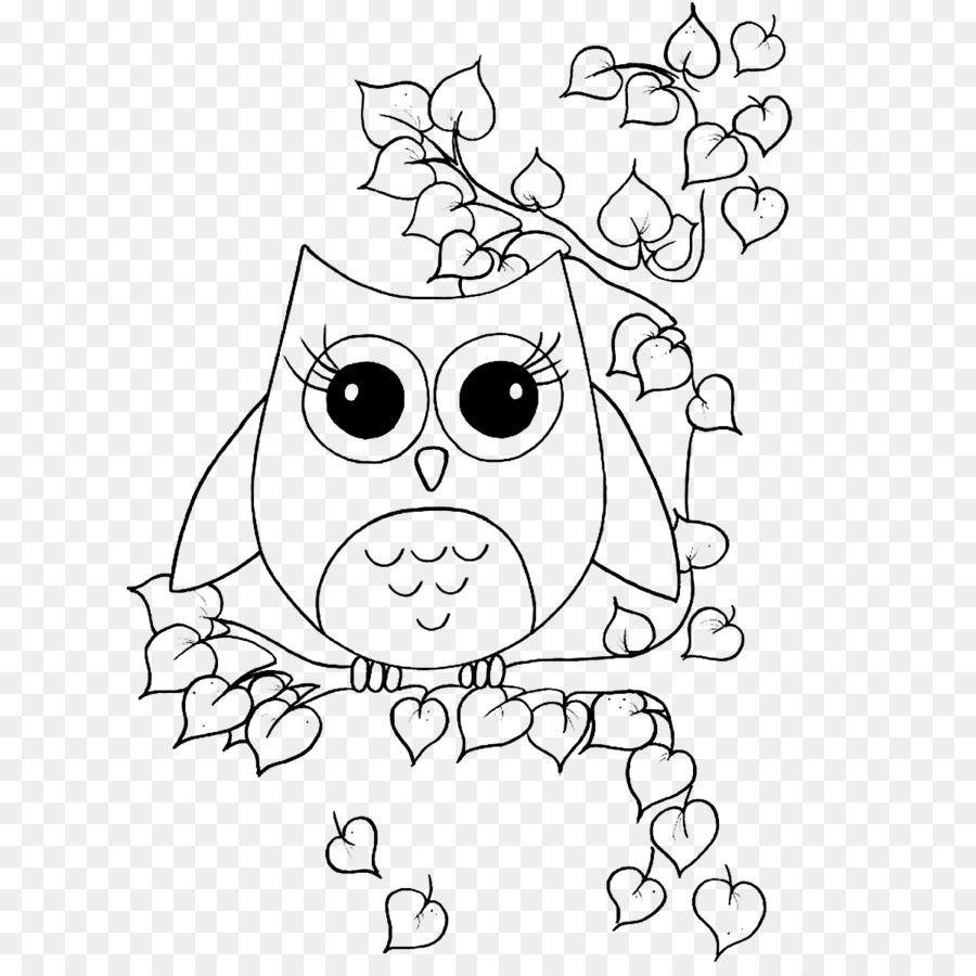 Owl Coloring book Drawing Bird - Lovely big eyes owl png download ...