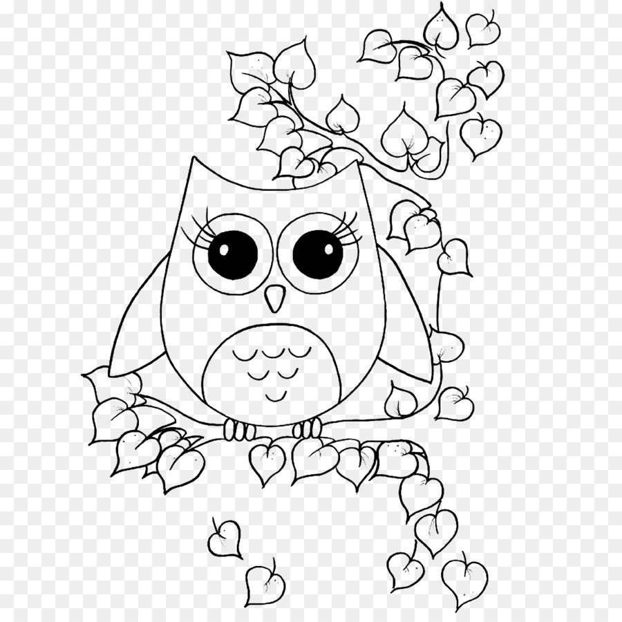 Owl Buku Mewarnai Gambar Burung Indah Besar Mata Burung Hantu
