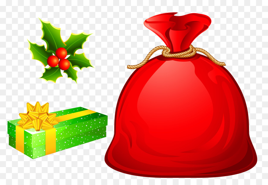 Christmas gift bags clipart