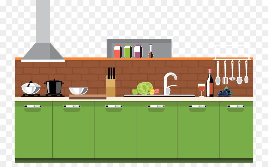 Table Kitchen Interior Design Services Furniture Vector Kitchen