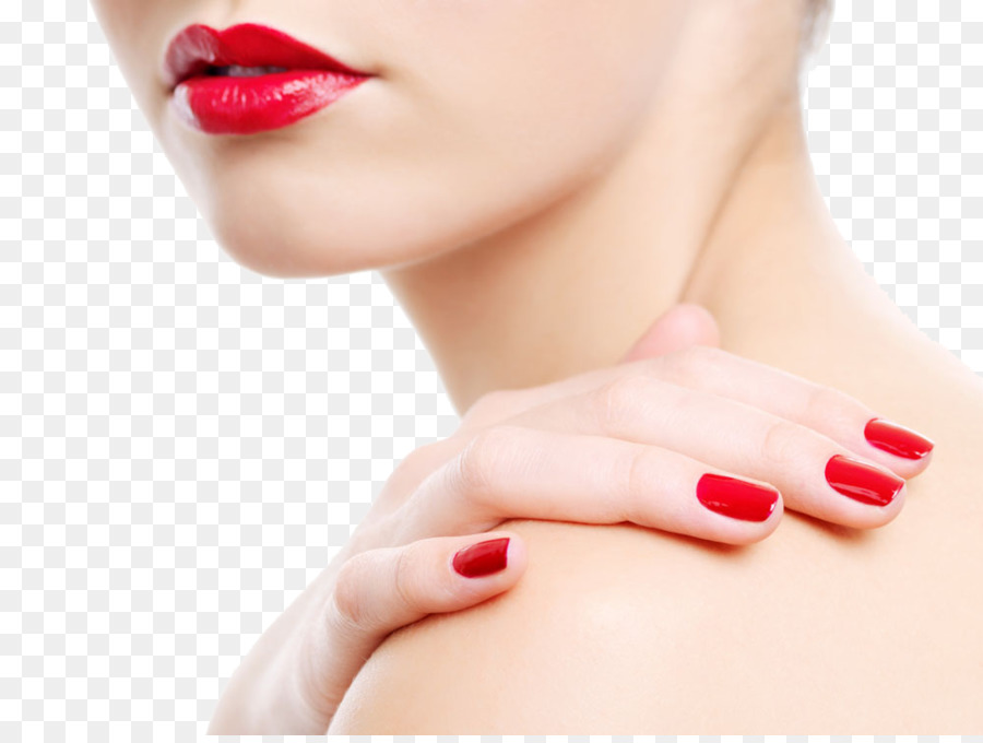 Nail polish Manicure Beauty Parlour Pedicure - Red lips red nails ...