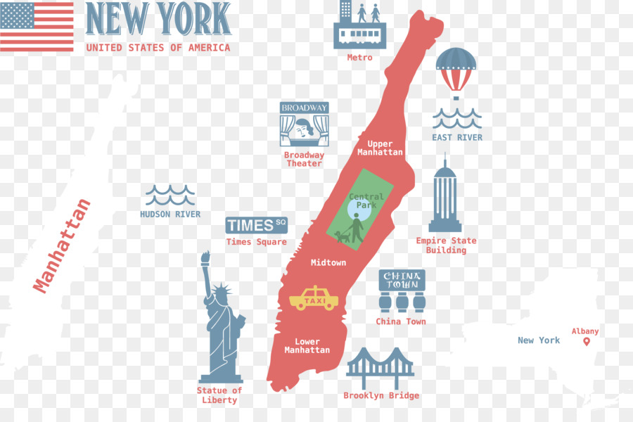 Manhattan Vector Map City Map Scenic Map Of The United States Png