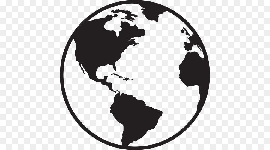 Globe World Map Lovable Cliparts 500 500 Transprent