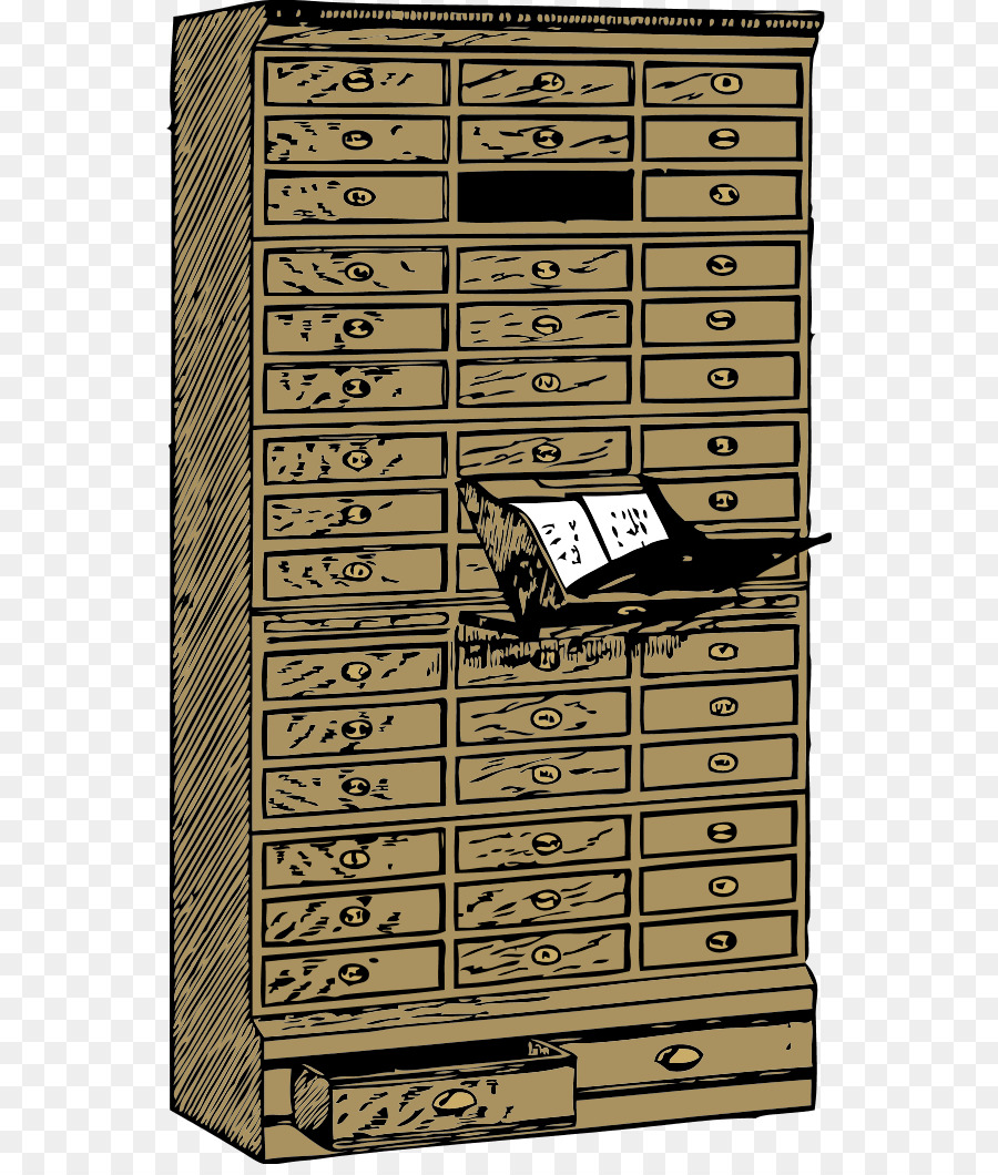 Drawer Filing Cabinet Flat File Clip Art   Cliparts Wood Cabinet