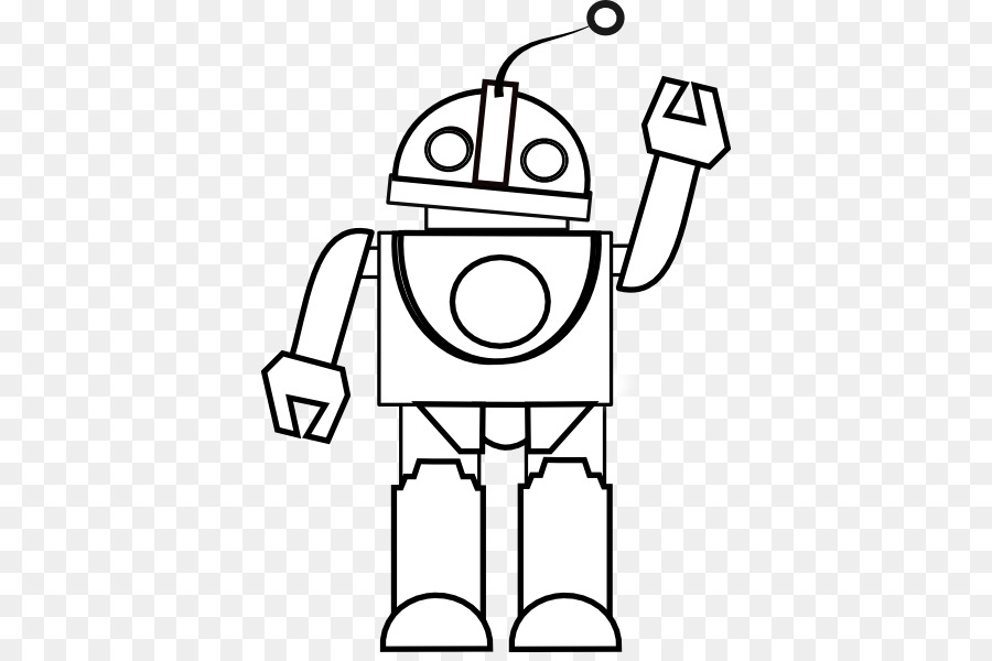 Robot Black And White Drawing Coloring Book Clip Art