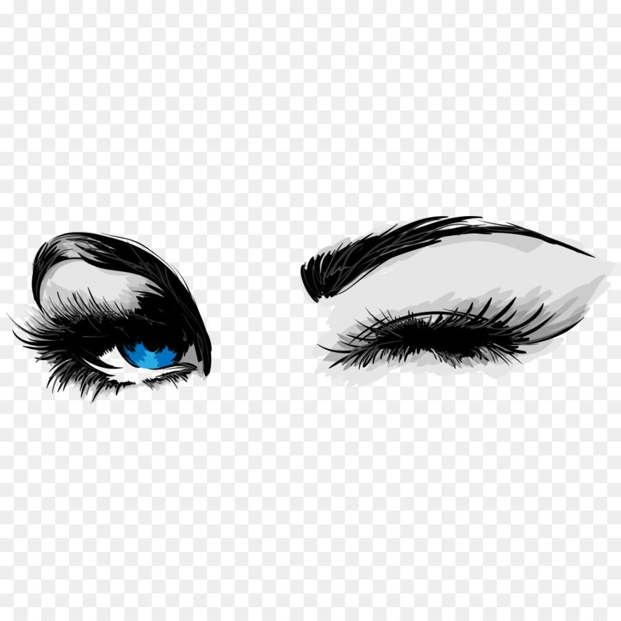 mascara cosmetics eyelash business card eye liner cartoon eyes - Eyelash Business Cards