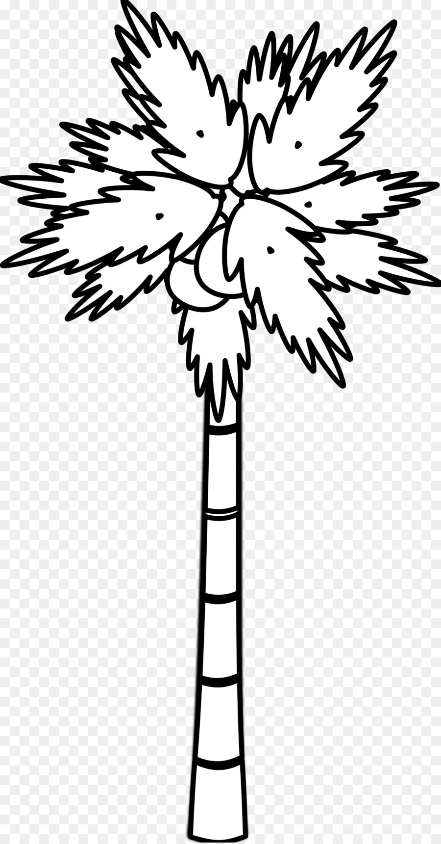 coconut tree arecaceae clip art black and white tree tattoos png rh kisspng com tree branch clipart black and white black and white christmas tree clip art free
