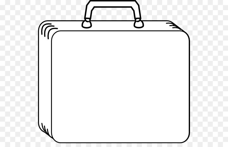 Suitcase Baggage Clip Art Coloring Page