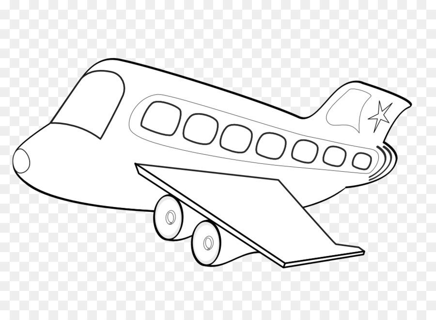 Ala de un avión, Avión de pasajeros libro para Colorear - En Blanco ...