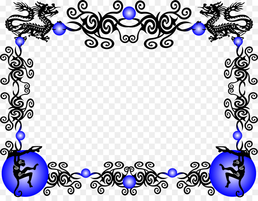 Borders and Frames Chinese dragon New Year Clip art - Chinese ...