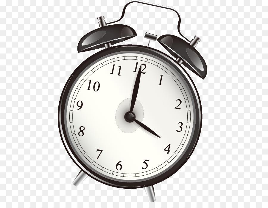 Reloj despertador Clip art - En blanco y negro patrón de vector de ...