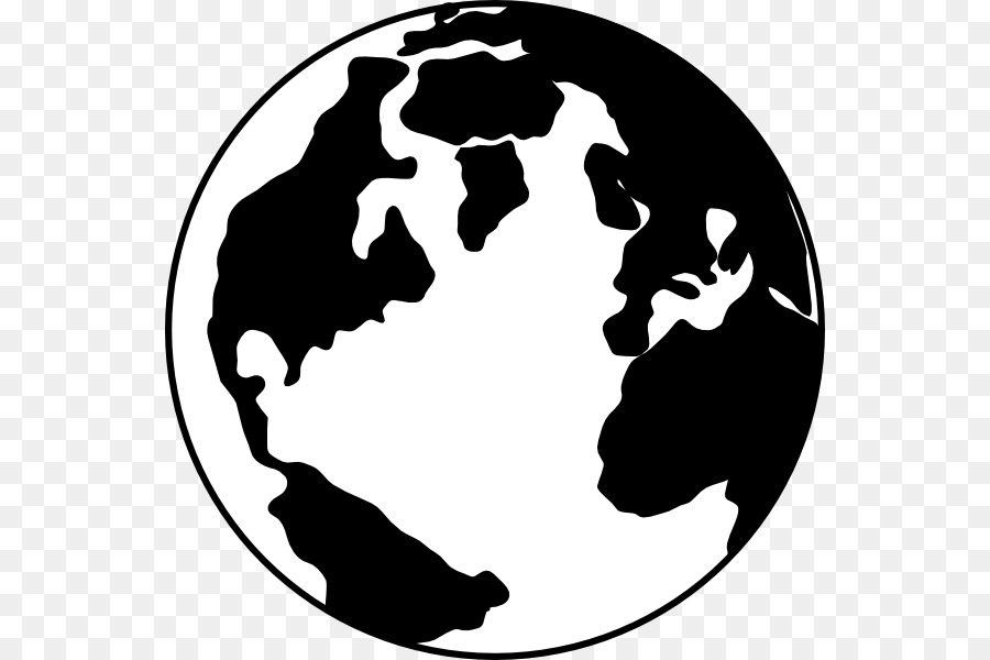 410fd5a126 Globe World Black and white Clip art - Black And White Earth png download -  600 600 - Free Transparent Globe png Download.