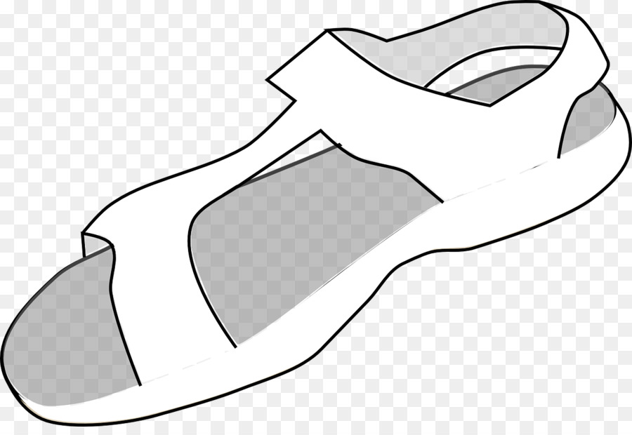 1d6ce897b Sandal Cartoon Flip-flops Shoe Clip art - White sandals png download - 1280 864  - Free Transparent Sandal png Download.