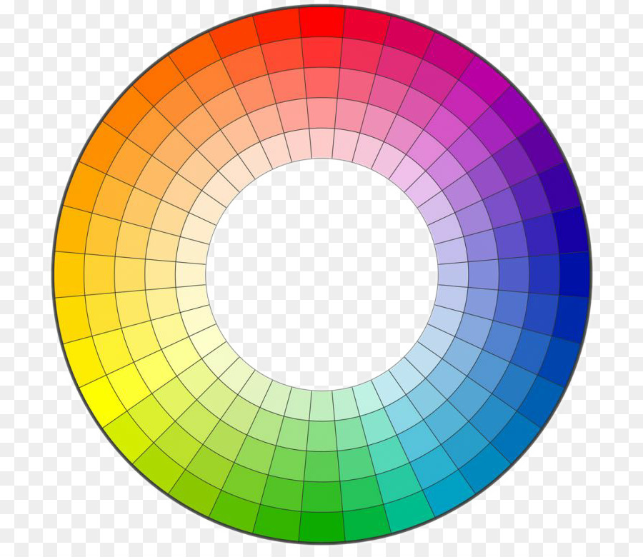 Color Wheel Complementary Colors Hue Ring Chart Png Download 768
