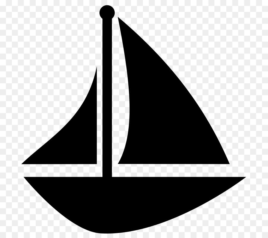 Sailboat Black And White Clip Art