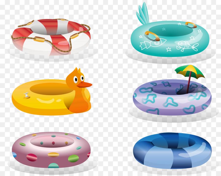 Dibujos animados de Pintura Nadar anillo - De dibujos animados de ...