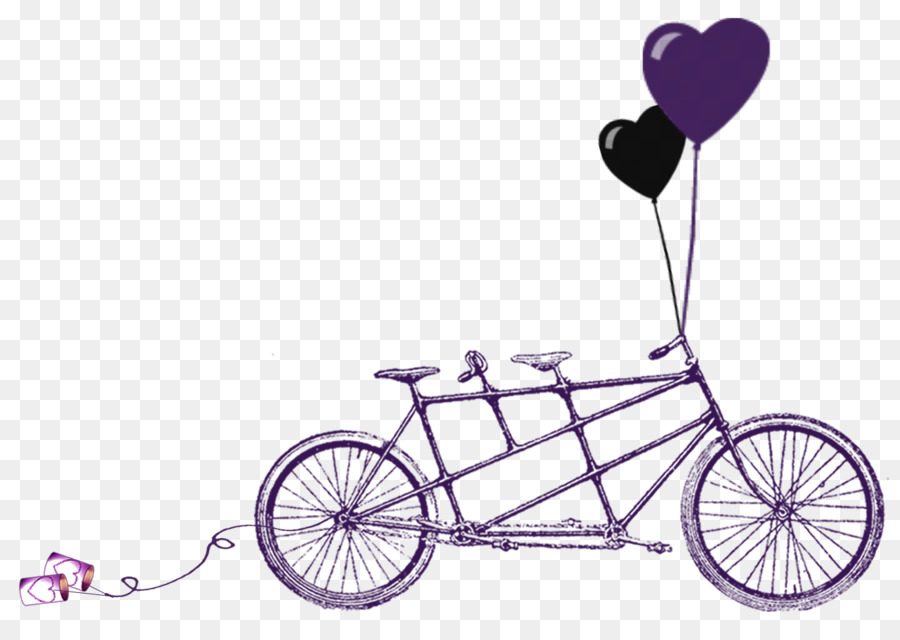 Wedding invitation Tandem bicycle RSVP - Wedding Reception Cliparts ...