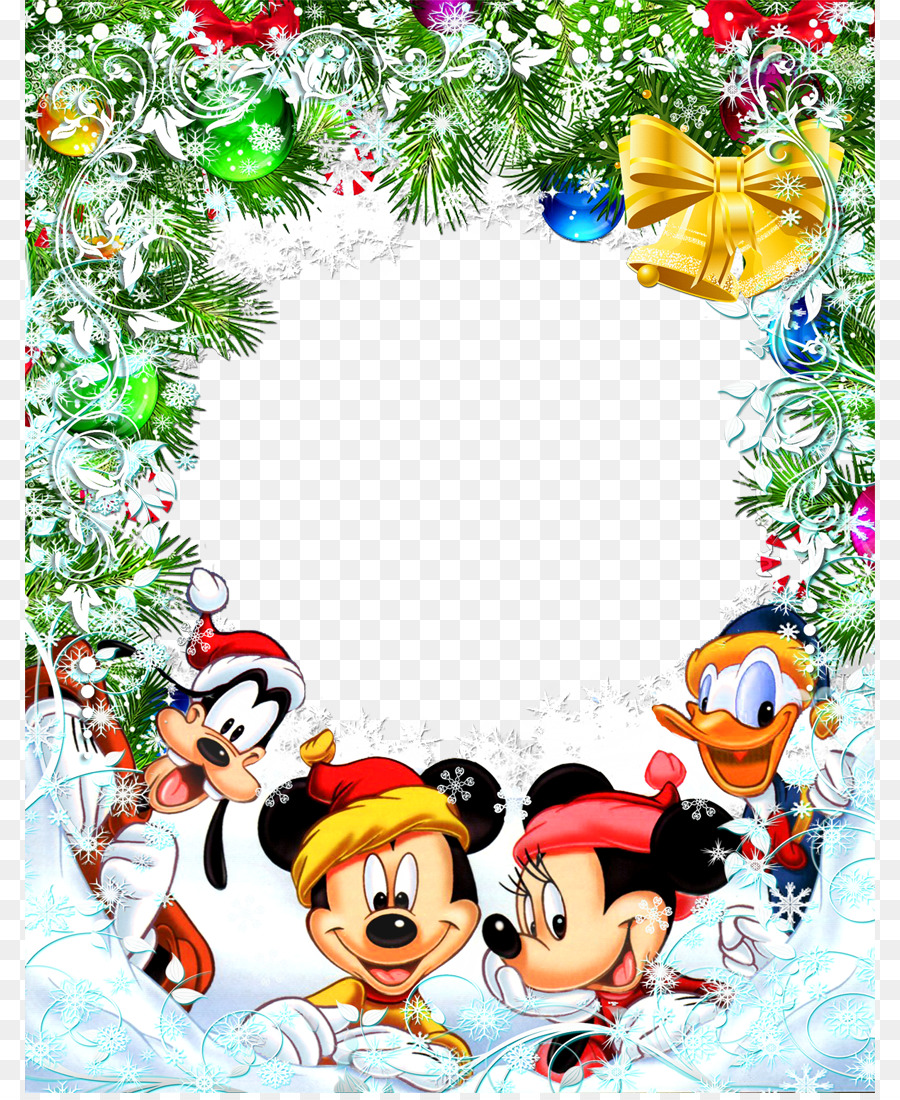 mickey mouse minnie mouse christmas picture frame clip art star friends cliparts - Christmas Mickey Mouse