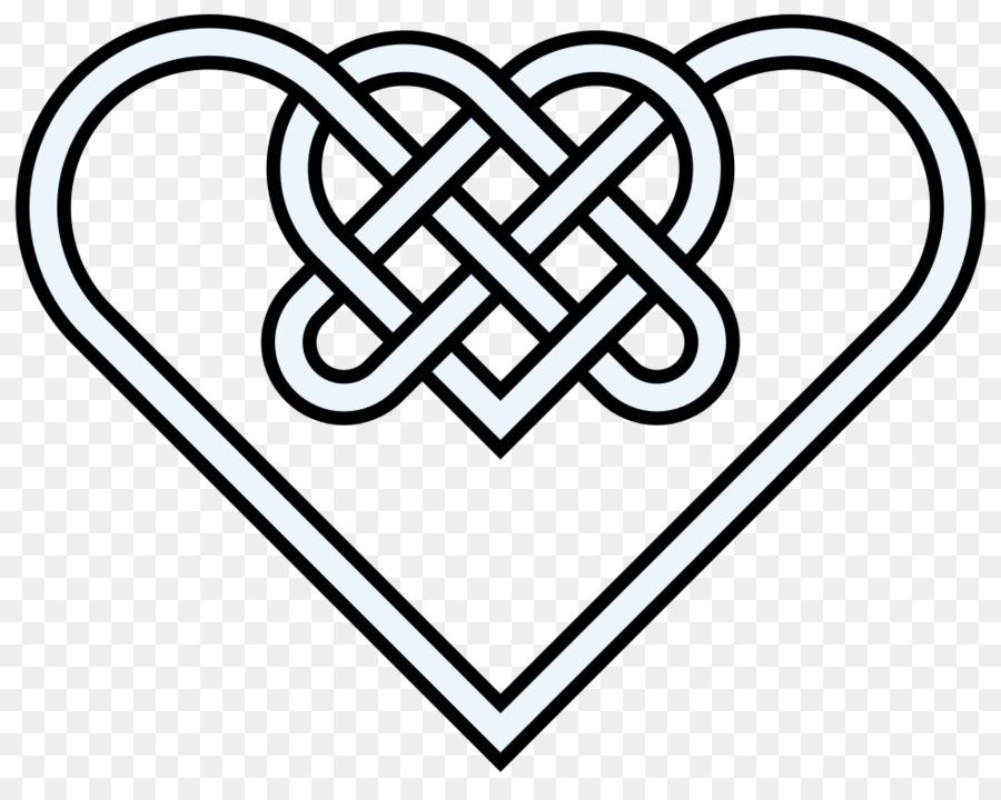 Celtic Knot Celts Heart Clip Art Double Heart Images Png Download