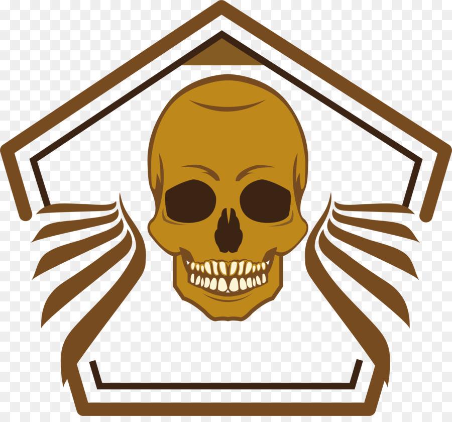 Majalaya Esqueleto Clip art - Pentágono esqueleto de la etiqueta ...