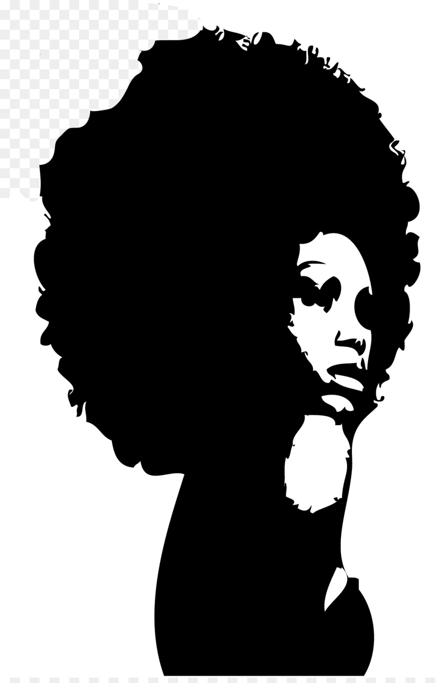 silhouette black african american female clip art afro lady rh kisspng com afro silhouette clip art afro clip art silhouettes