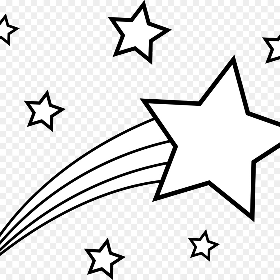 Coloring book Star Shooting Clip art - Stars Drawing png download ...